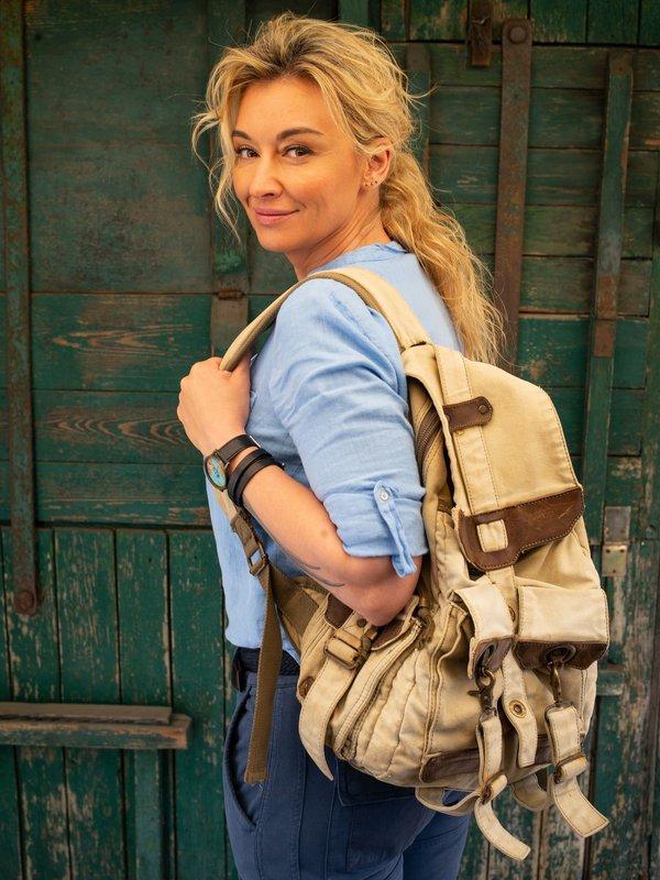 Martyna Wojciechowska z plecakiem