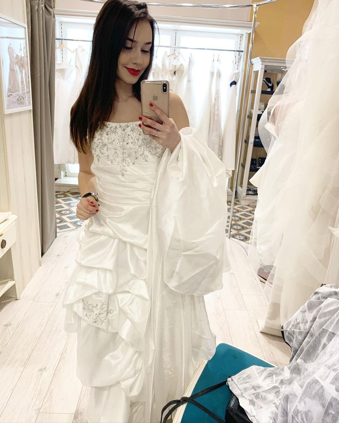 Marcelina Ziętek w białej sukni ślubnej