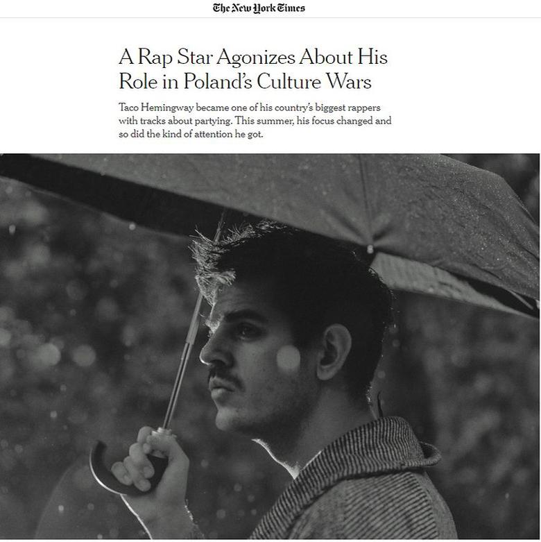 Taco Hemingway w New York Times