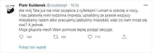 Piotr Kuldanek nie zyje