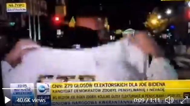 Wpadka TVN24 szaleniec na wizji