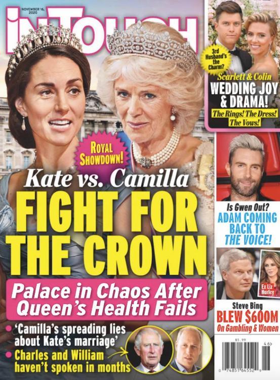 Księżna Kate i księżna Camilla na okładce InTouch