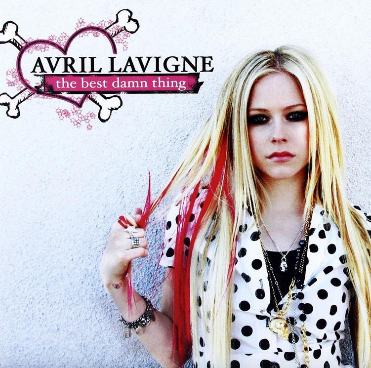 Avril Lavigne na okładce płyty The Best Damn Thing
