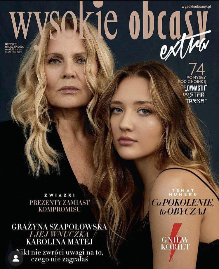 Grażyna Szapołowska z wnuczką na okładce magazynu