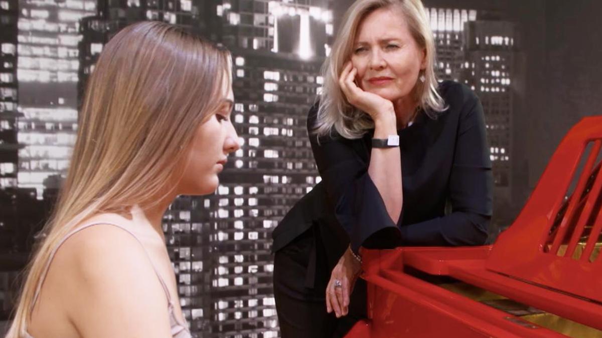 Grażyna Szapołowska i jej wnuczka Karolina Matej