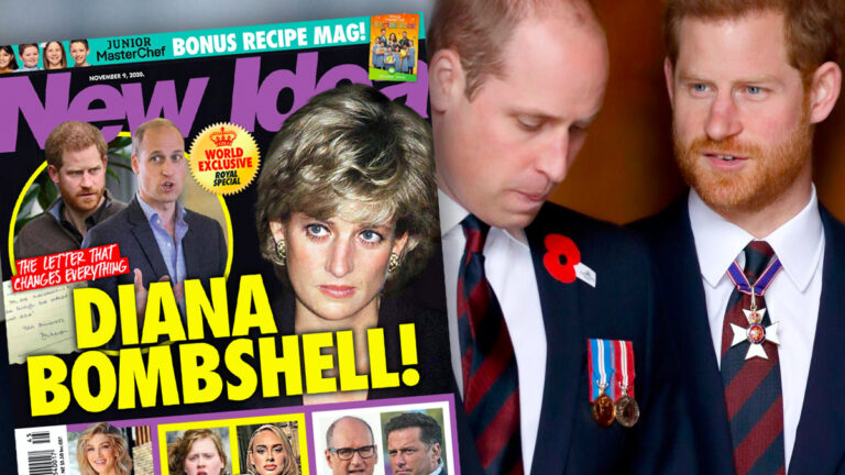 Harry, William, Diana, New Idea