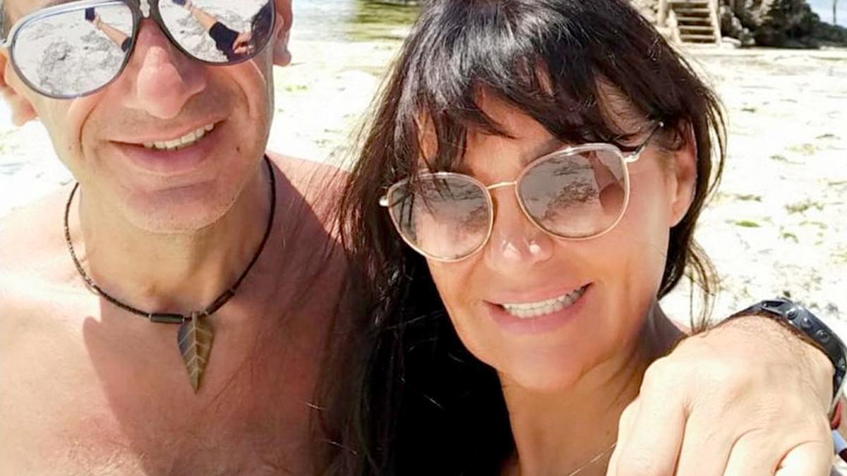 Iwona Pavlović z mężem