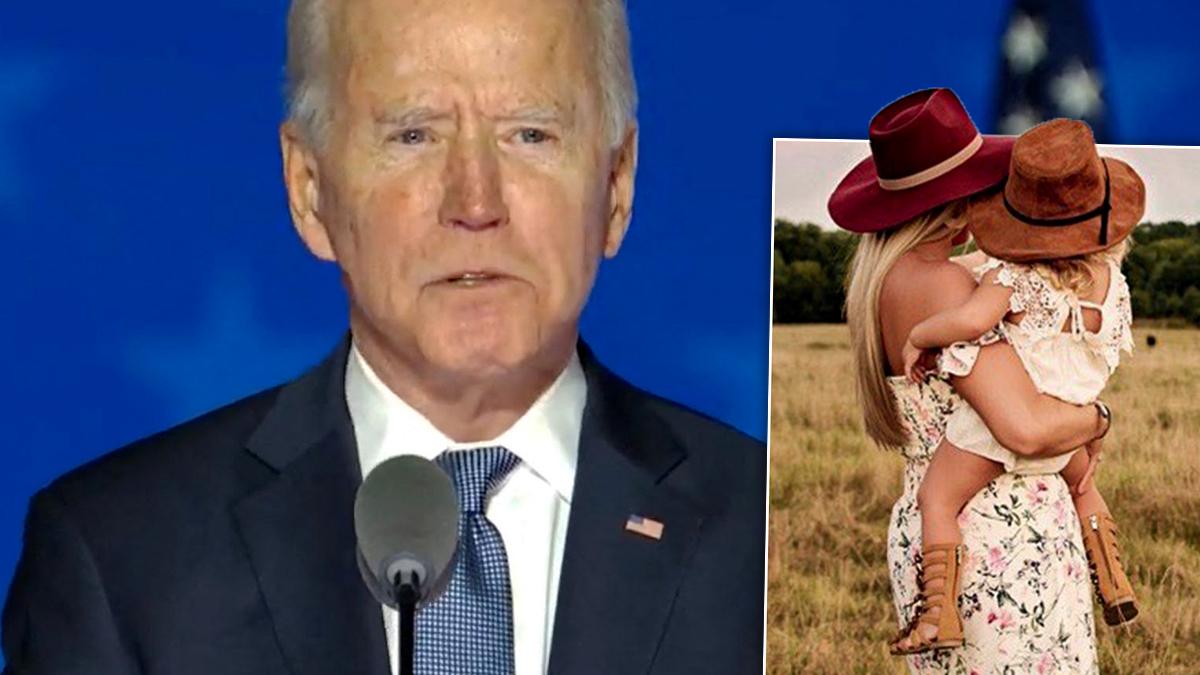 Joe Biden i jego wnuczka