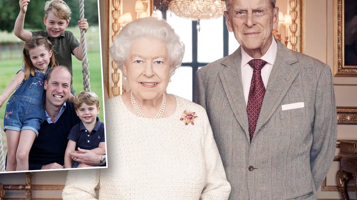 Królowa Elżbieta II i książę Filip, prawnuki