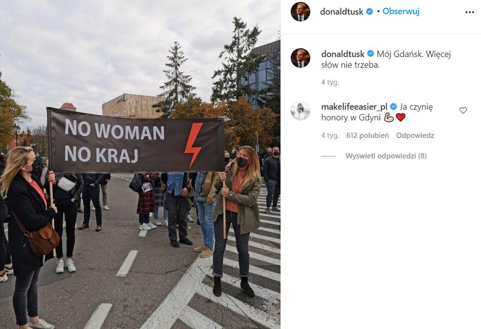 Kasia Tusk wsparła Strajk Kobiet