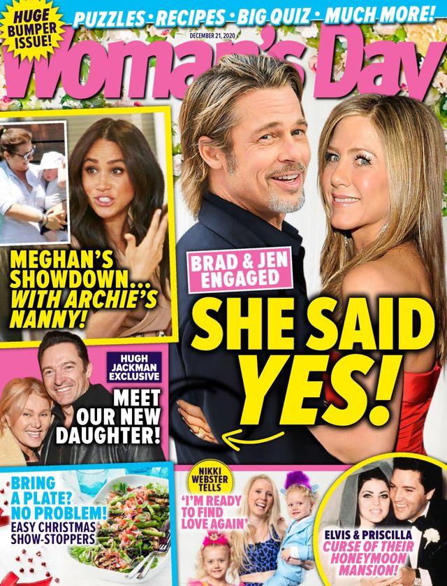 Jennifer Aniston i Brad Pitt na okładce Woman's Day