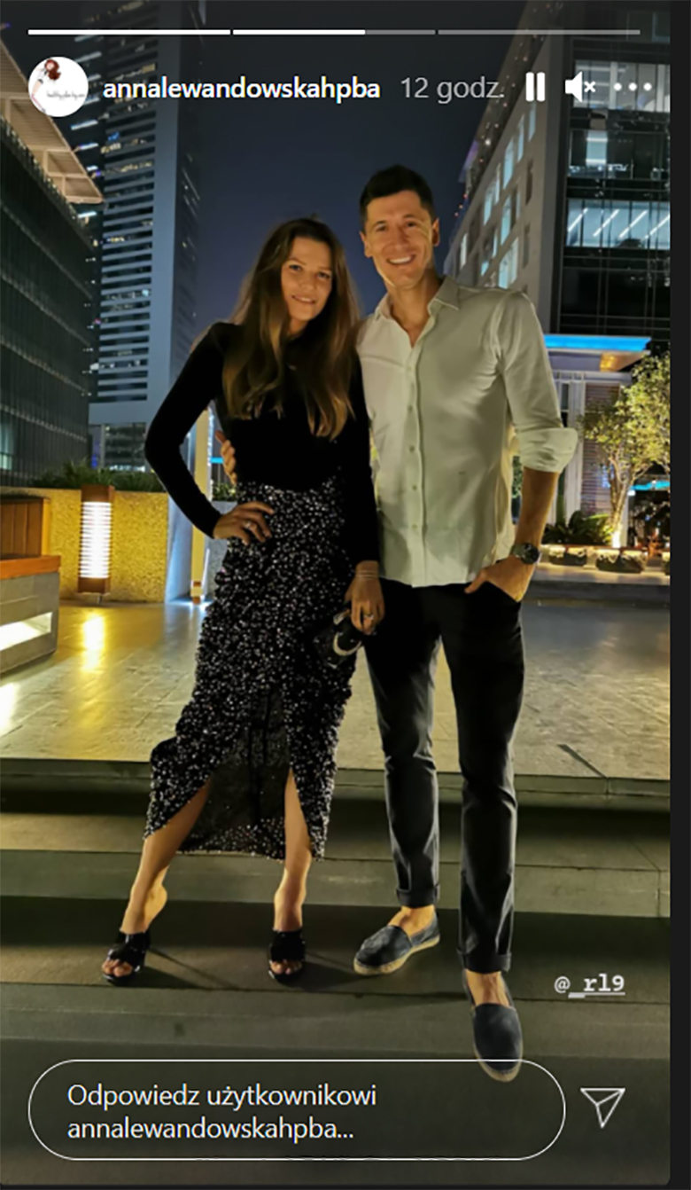 Anna Lewandowska i Robert Lewandowski w Dubaju