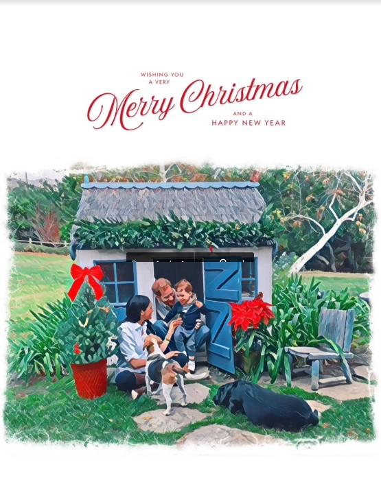 Meghan, Harry i Archie — kartka świąteczna 2020