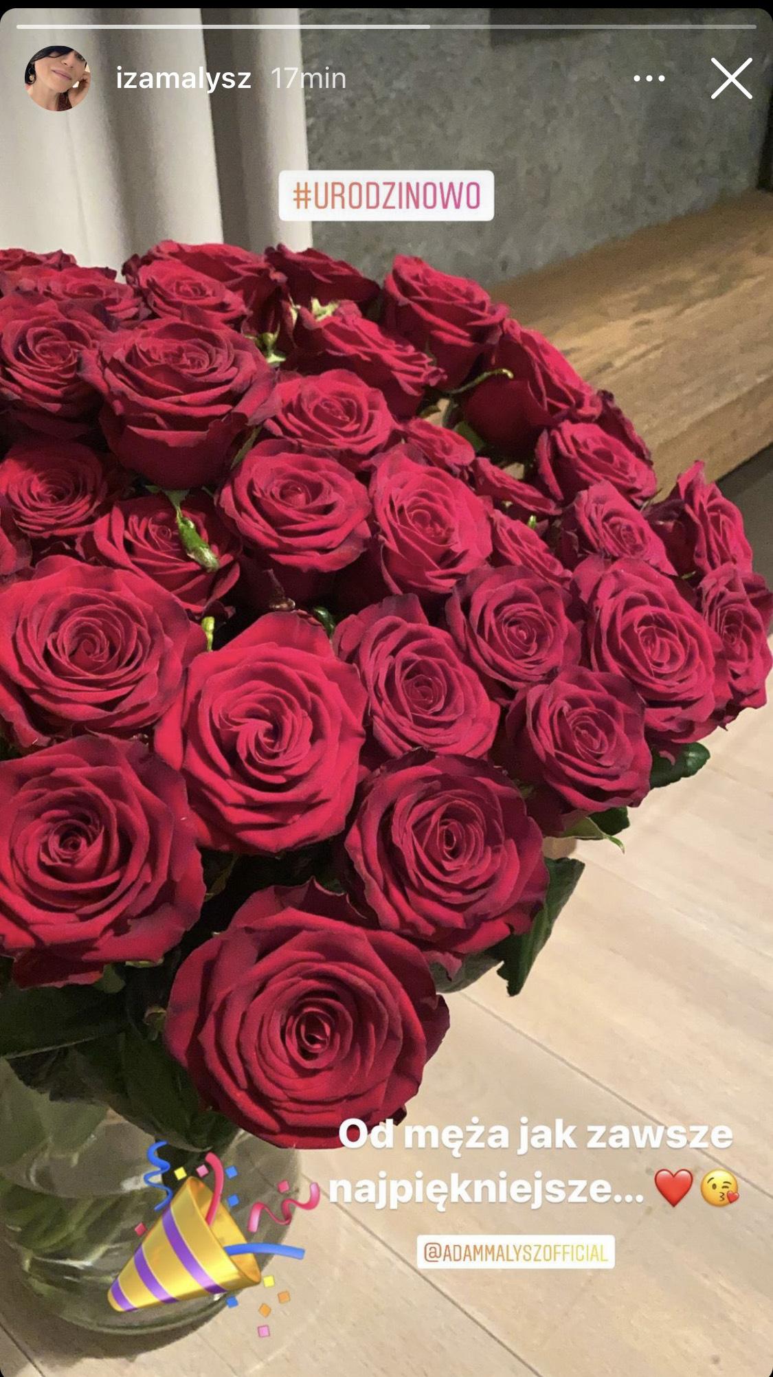 Izabela Małysz - kwiaty od Adama Małysza