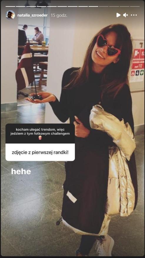 Natalia Szroeder zdjęcie z pierwszej randki