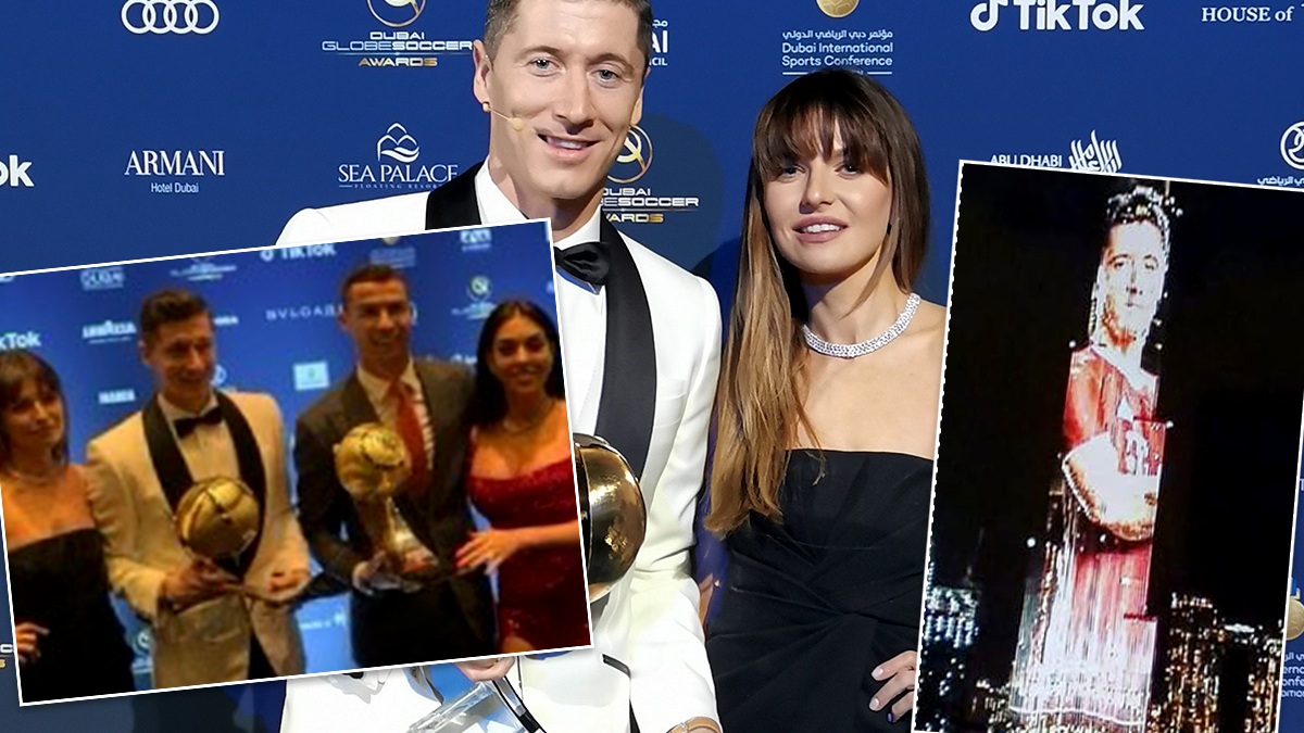 Robert Lewandowski i Anna Lewandowska - gala Soccer Awards 2020