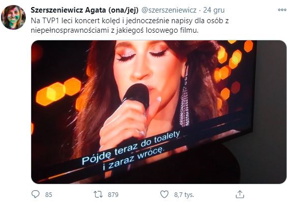 Wpadka TVP podczas koncertu kolęd