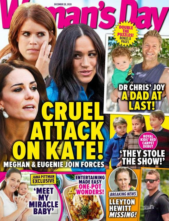 Meghan i Eugenia przeciwko Kate – okładka tabloidu