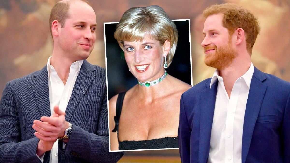 William i Harry, księżna Diana