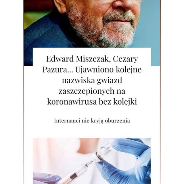 Edyta Pazura dementuje plotki o szczepieniu Cezarego Pazury