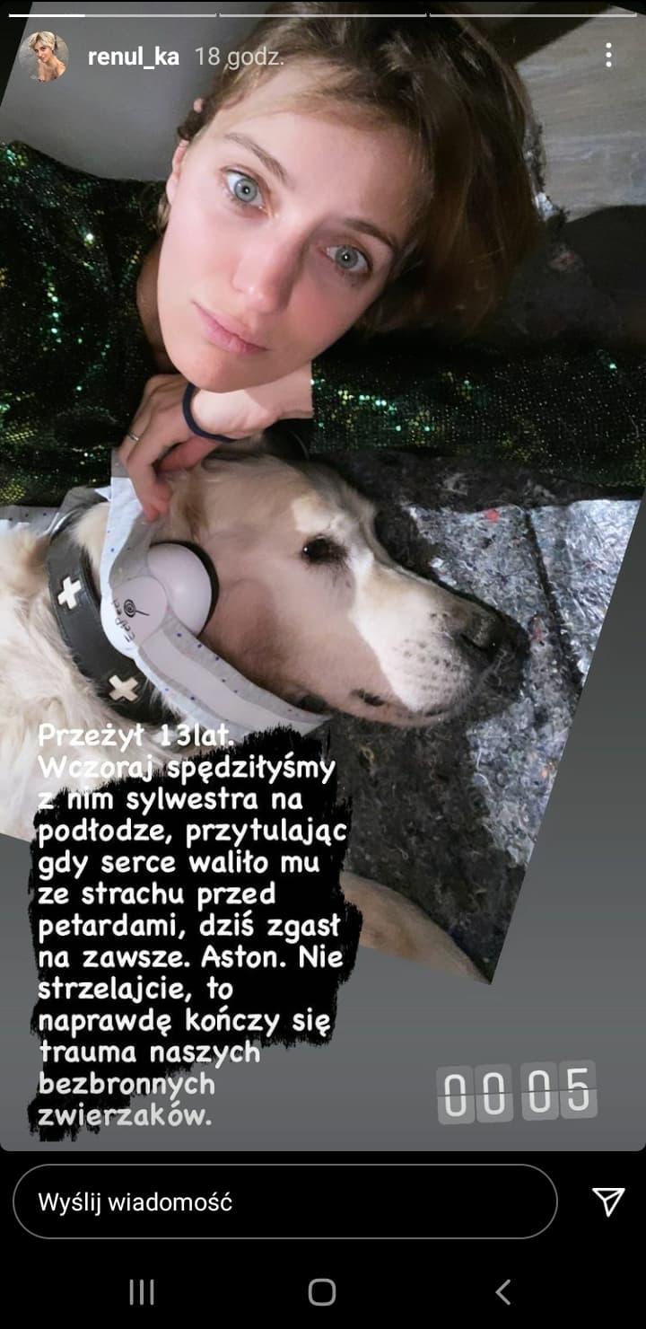 Renata Kaczoruk pożegnała przyjaciela