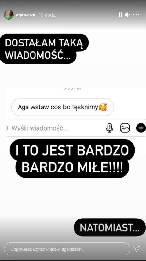 Agnieszka Kaczorowska odpowiada fanom
