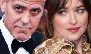 Dakota Johnson i George Clooney