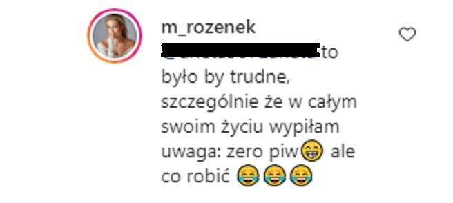 Małgorzata Rozenek odpowiada na komentarz internautki