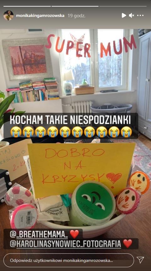 Monika Mrozowska wróciła do domu po porodzie