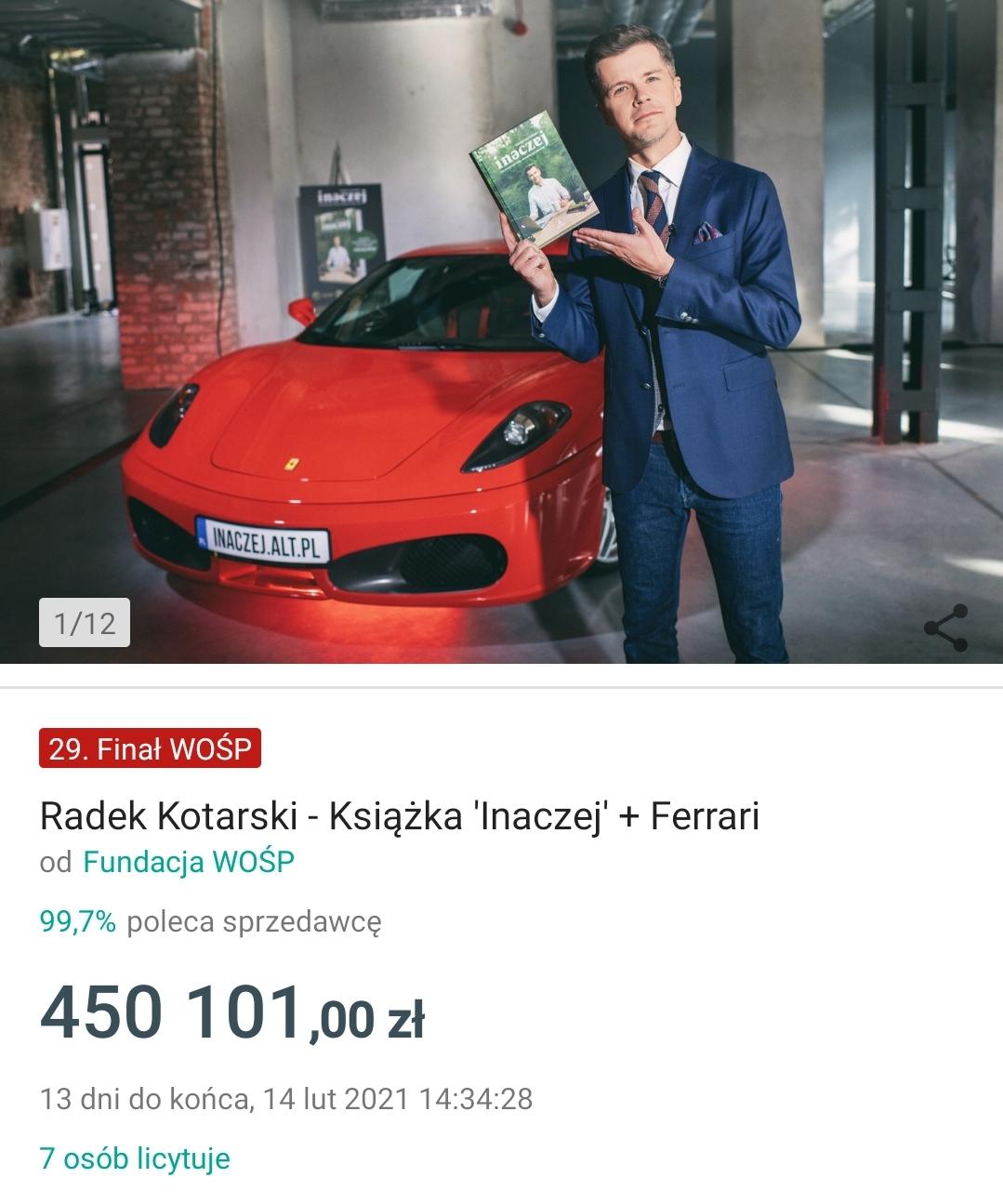 Radek Koterski - WOŚP 2021