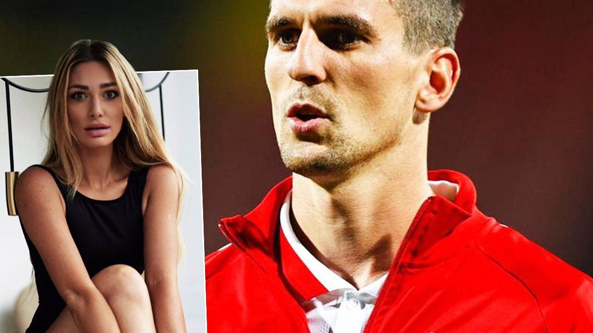 Arkadiusz Milik i Jessica Ziółek