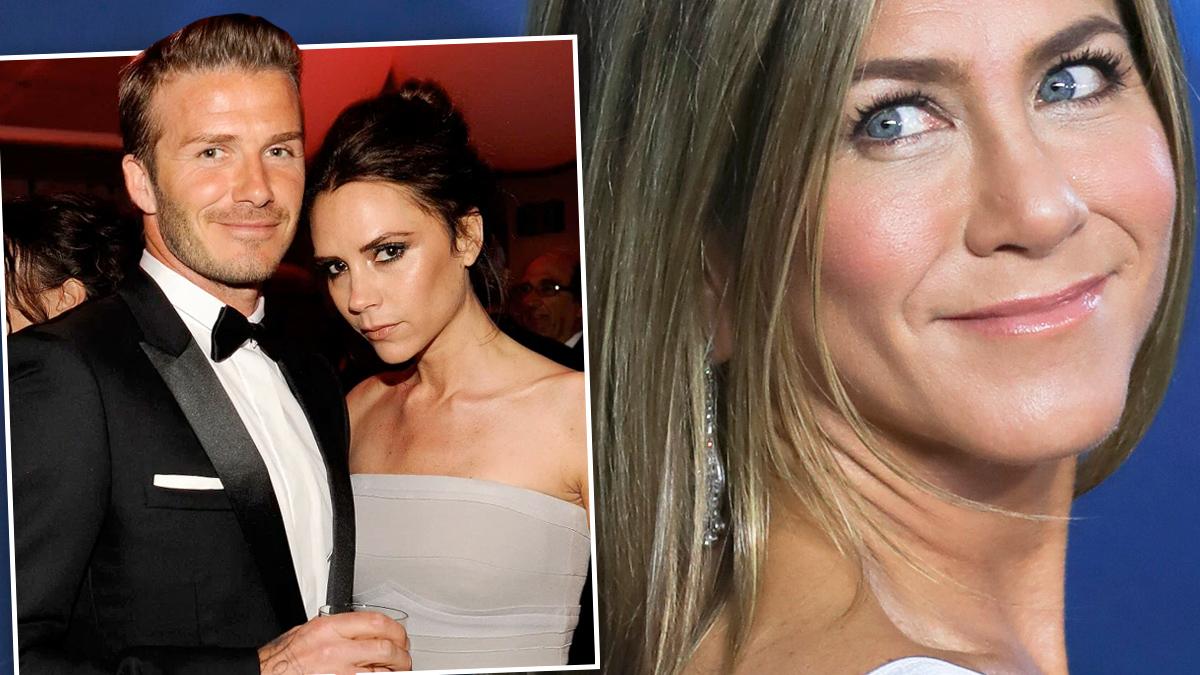 Beckhamowie, Jennifer Aniston