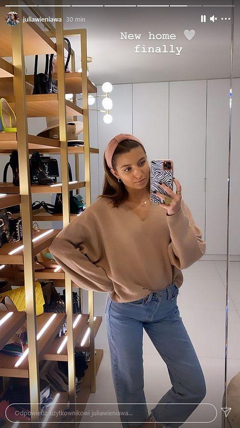 Julia Wieniawa - garderoba w nowym apartamencie