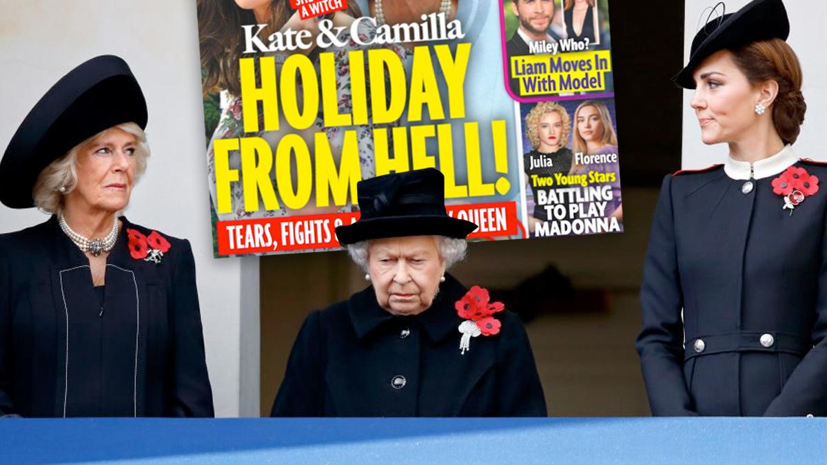 Kate, Camilla, Elżbieta II
