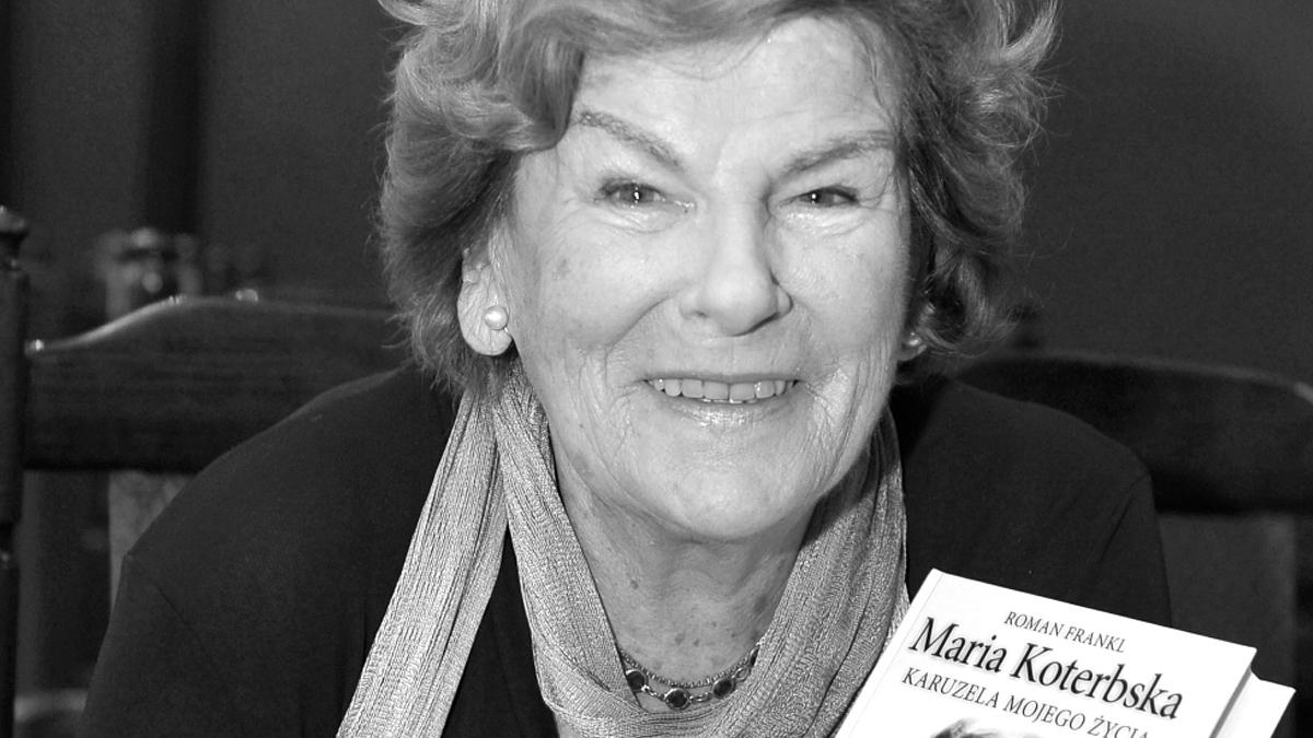 Maria Koterbska nie żyje