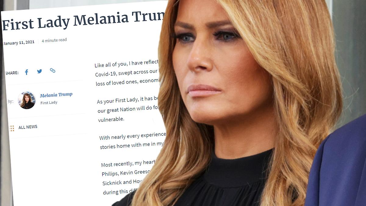 Melania Trump przerywa milczenie