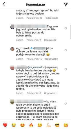 Komentarze pod postem Małgorzaty Rozenek