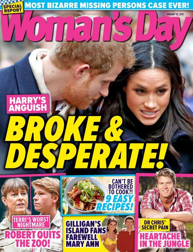Meghan Markle i książę Harry na okładce Woman's Day