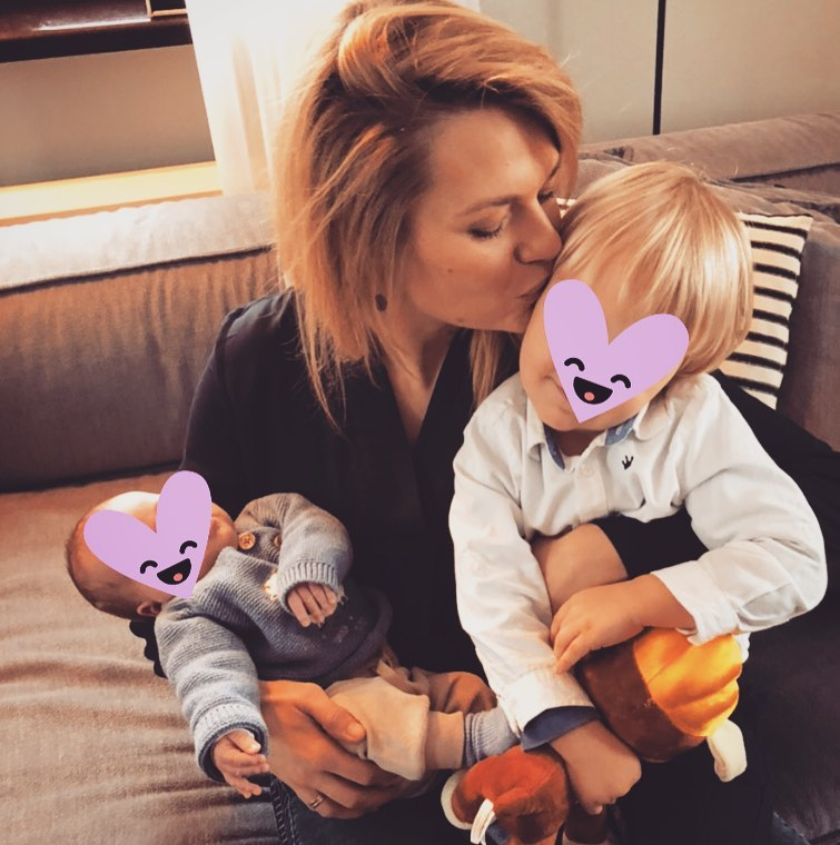 Emilia Komarnicka z dziećmi