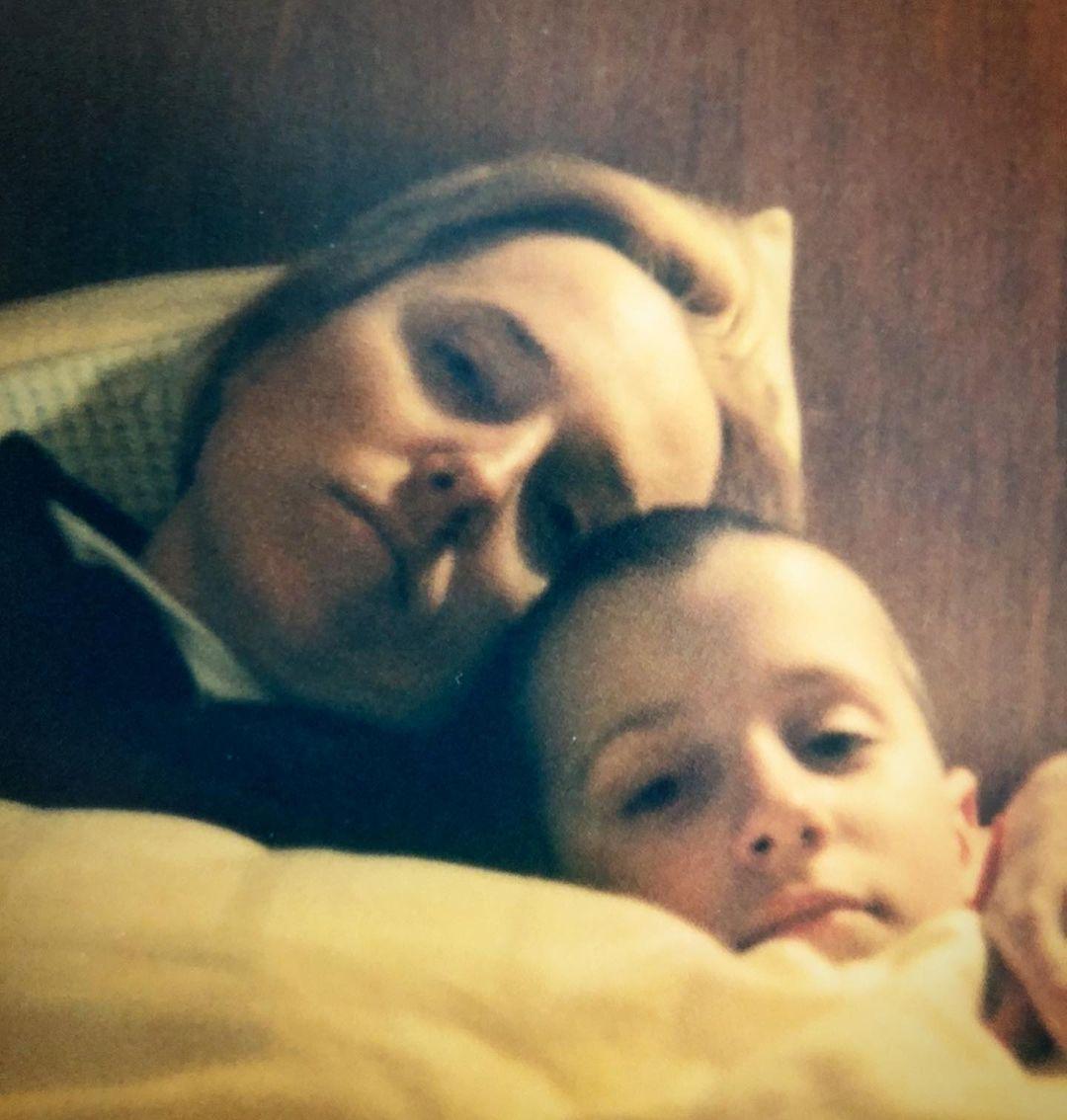 Agata Młynarska z synem Tadeuszem