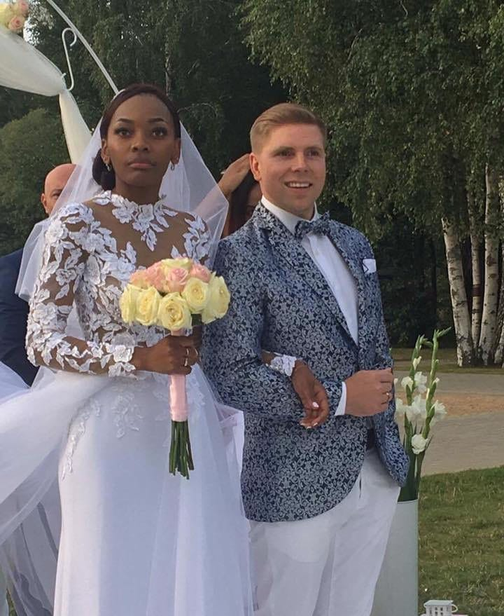 Divine Kitenge Martyńska i jej mąż
