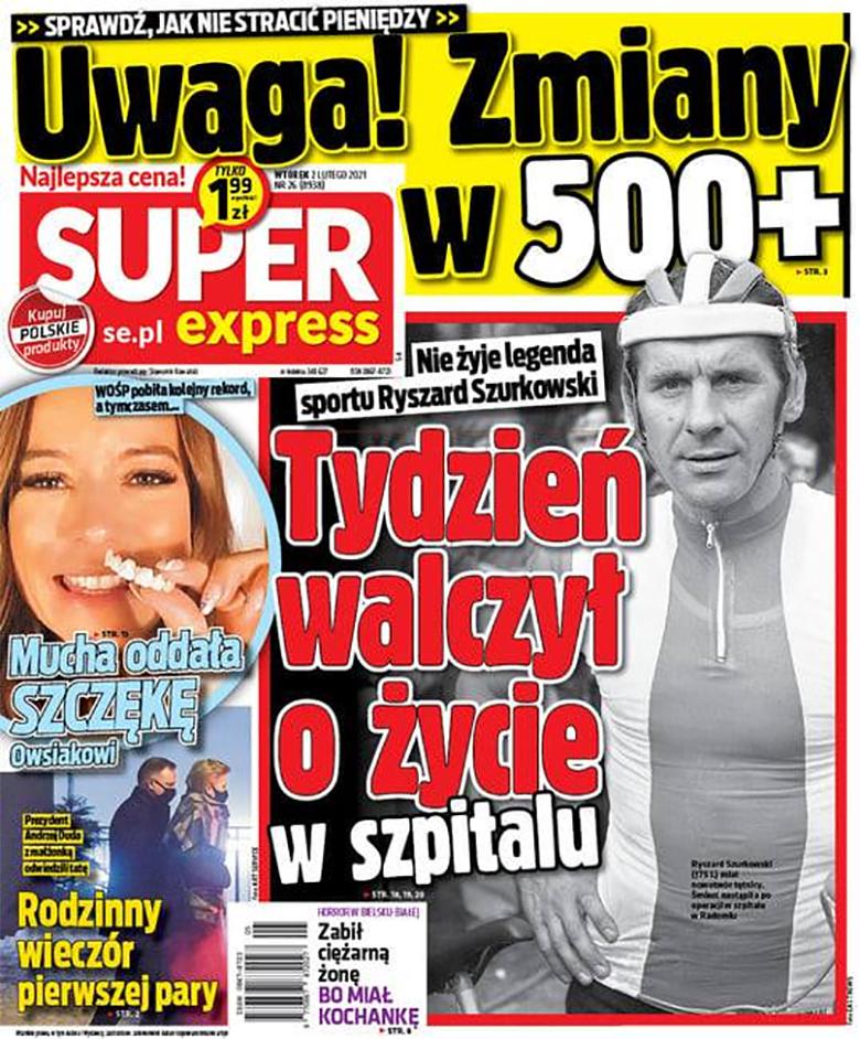 Agata Duda i Andrzej Duda trafili na okładkę tabloidu
