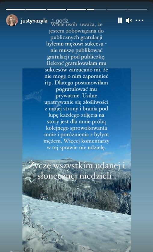 Justyna Żyła komentuje zwycięstwo Piotra Żyły