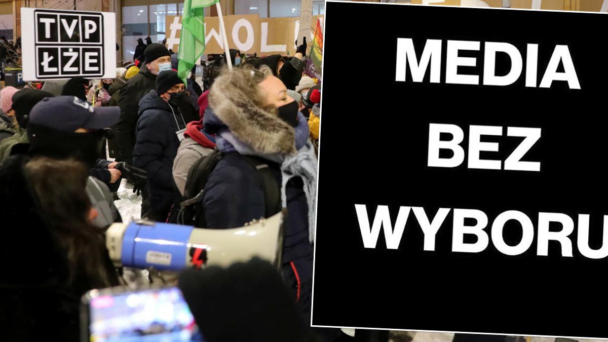 Protesty przed TVP