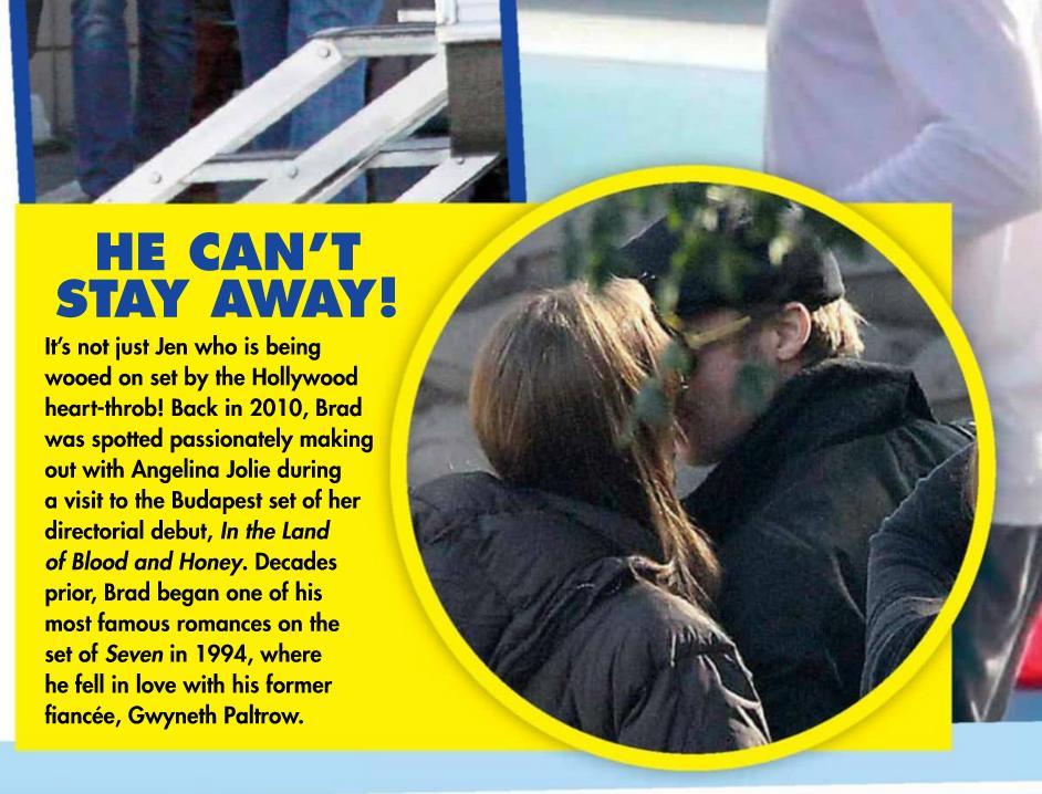 Brad Pitt i Jennifer Aniston całują się