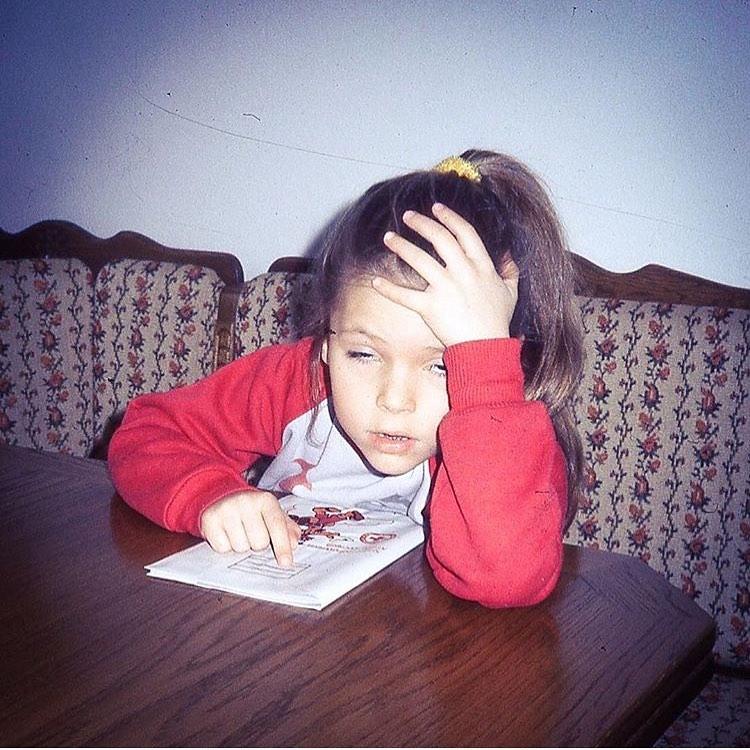 Aleksandra Kwaśniewska w dzieciństwie
