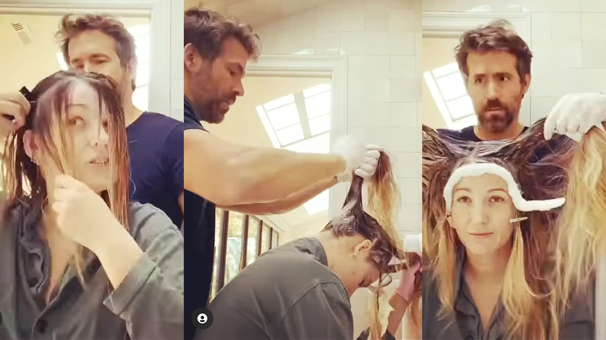 Ryan Reynolds zabrał się za włosy Blake Lively