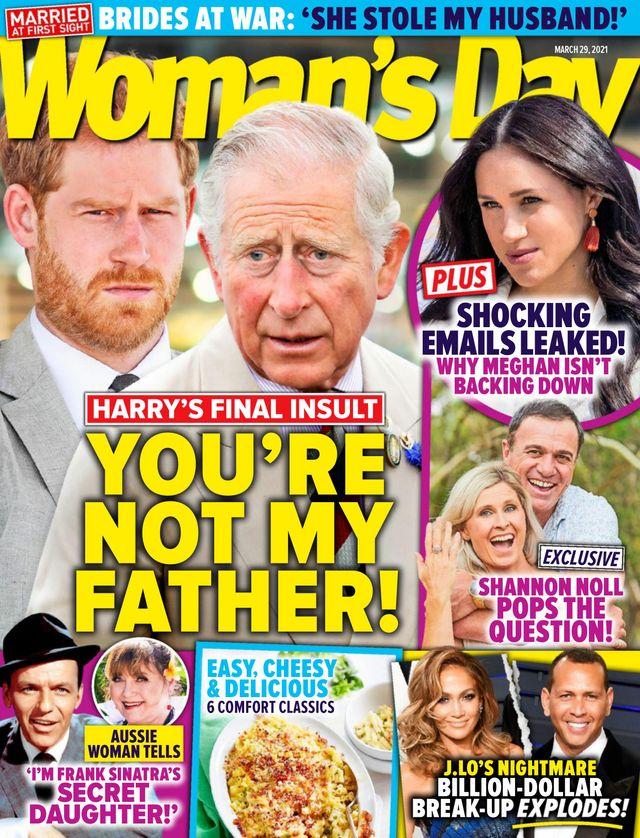 Książę Harry i książę Karol na okładce Woman's Day