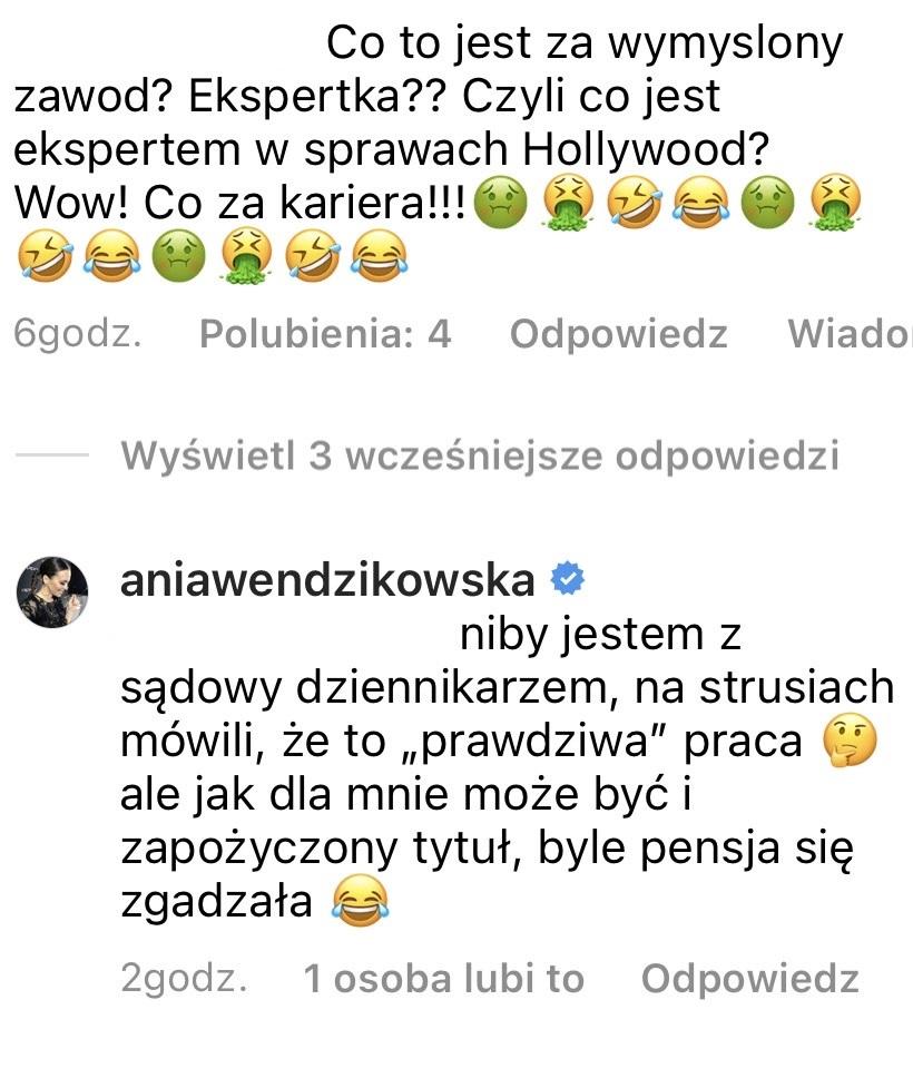 Anna Wendzikowska odpowiada na krytykę