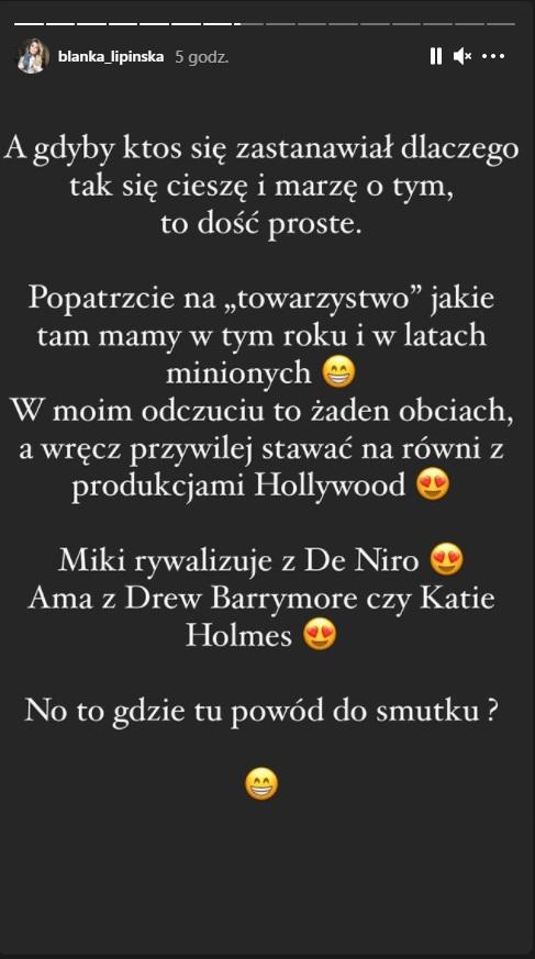 Blanka Lipińska o nominacjach do Złotych Malin 2021